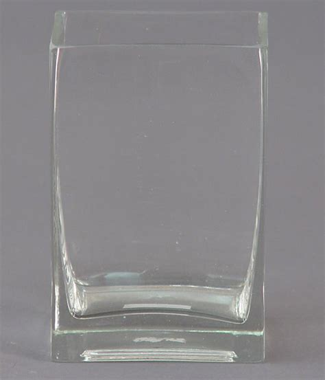 Rectangle Vase Glass by Glass Rectangle Vase 6 Inch