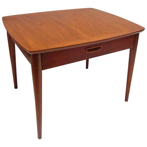 modern end table with drawer 1950s danish modern end table in walnut with drawer for