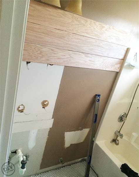 plank wall bathroom guest bathroom update a paint refresh the diy village