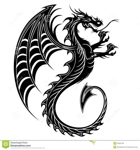 tatouage symbol 2012 de dragon photos libres de droits