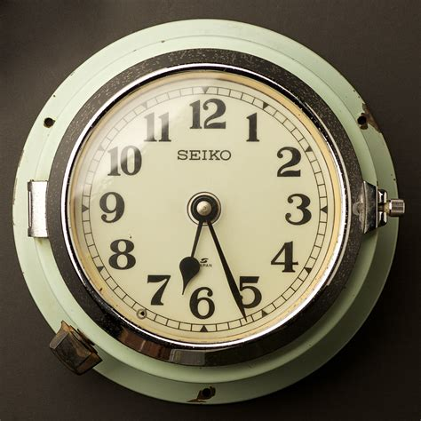wall clock vintage ship s seiko wall clock no2