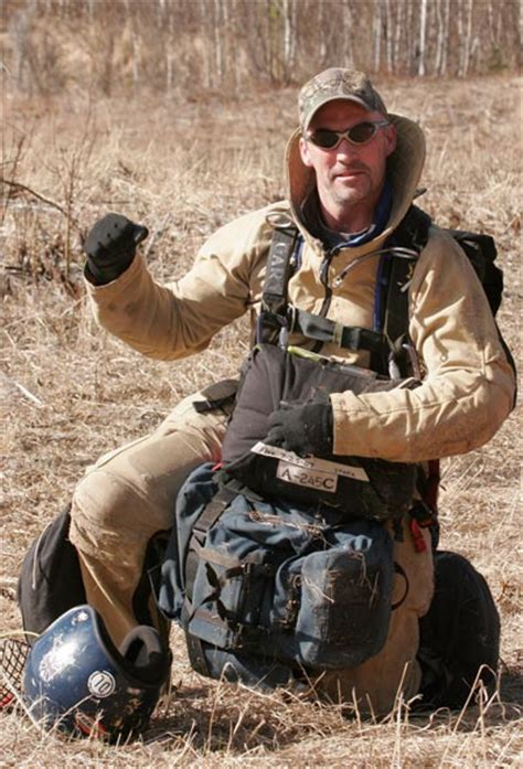 smokejumper equipment doinews a sign of respect blm s gary baumgartner garners