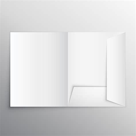 template folder realistic blank folder design template mockup