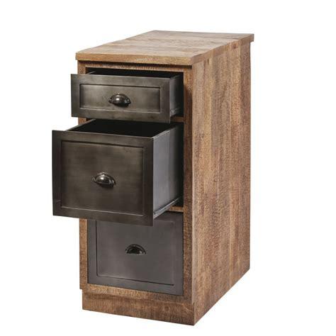 cassetti in metallo mobile basso da cucina a 3 cassetti in legno massello di