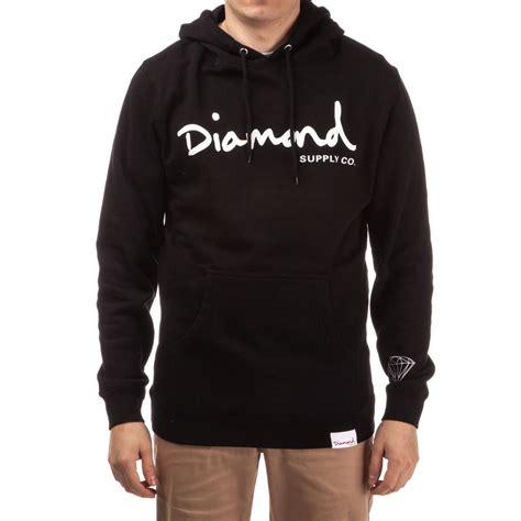 Hoodie One Diamend Clothing supply co og script pullover hoodie black