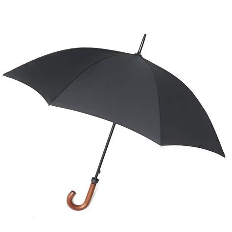 black umbrella fulton huntsman mens umbrella black wooden crook handle