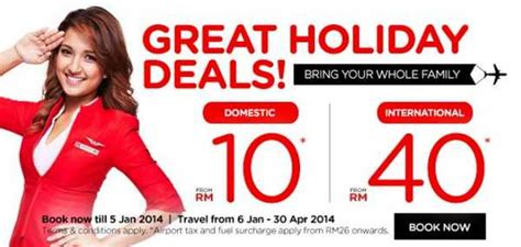 airasia holidays airasia great holiday deals 2014 from rm10 airlines