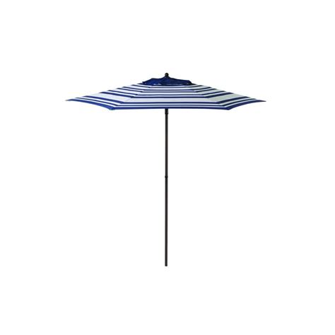 Blue And White Striped Patio Umbrella 7 5 Ft Stripe Patio Umbrella In Blue White Uts00201e The Home Depot