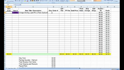inventory tracking spreadsheet template spreadsheet
