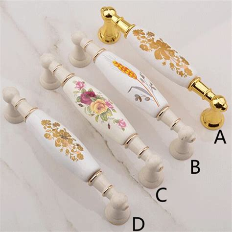kitchen cabinet door knobs white best free home 96mm 128mm 160mm fashion rural ceramic furniture handle
