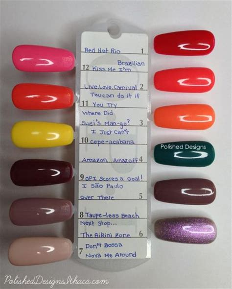 new color collection chart nicole s blog 1000 images about gel color nail ideas on pinterest