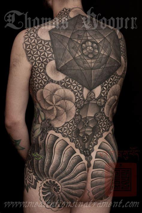 butt cheek tattoo sacred geometry fan with fibonacci cheeks