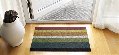 Inside Welcome Mat Chilewich Indoor Outdoor Floor Mats Shag Bold Stripe