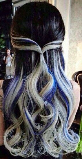 with blue streaks best 25 gray streaks ideas on going gray