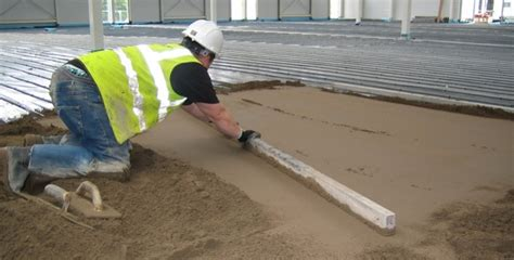 mix on the floor floor screed concrete sand and cement floor screeding