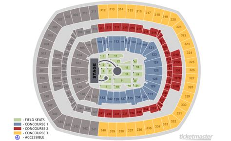 metlife stadium floor plan your view section at a 2016 show experience guns n