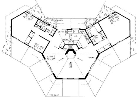 octagon shaped house plans contemporary style house plans 1400 square foot home 1 story 3 bedroom and 2 bath
