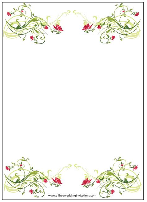 100 floral invitation template floral wedding