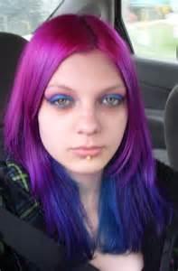 Washing Out Semi Permanent Hair Color - purple violet hair color splat hair dye dark brown hairs