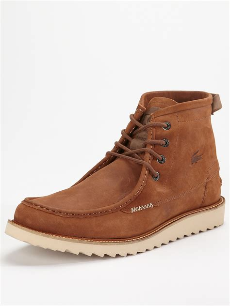 lacoste lacoste harbison mens boots in brown for lyst