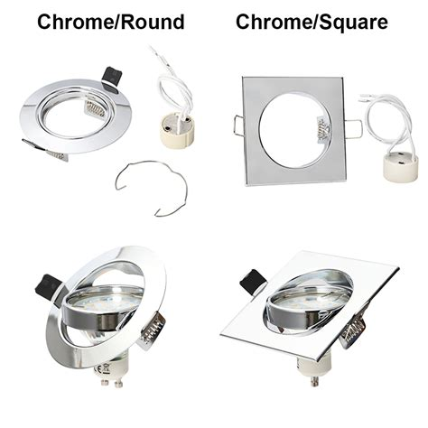 4 10x recessed downlight fitting adjustable ceiling light