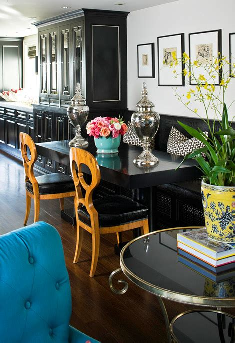 Black Banquette by Casa Haus Ideas Kitchen Nooks And Banquettes