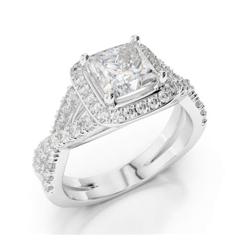 70 1 28 ct f si3 princess halo infinity ring