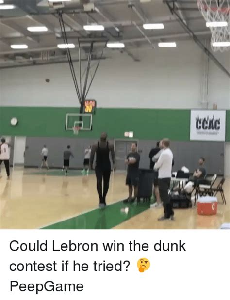 who won the contest eene could lebron win the dunk contest if he tried peepgame dunk meme on sizzle