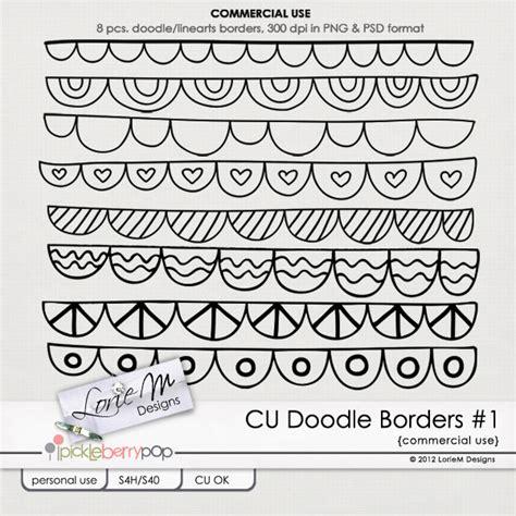 doodle border ideas pickleberrypop commercial use cu cu doodle borders 1