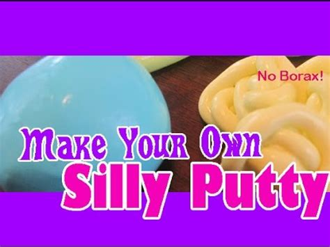 diy silly putty without borax how to make slime without borax tide flour or corn starch