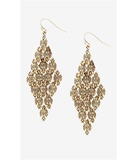 Shaped Drop Earring shaped earrings s j west gold large