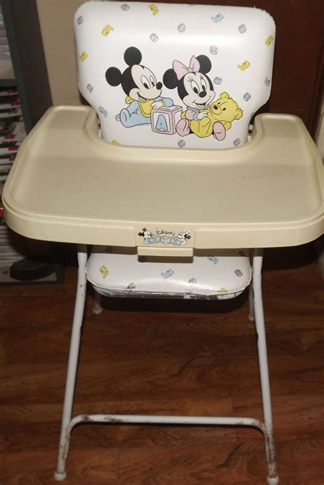 Mickey Mouse High Back Chair by Vintage Disney Babies Mickey Mouse Minnie Mouse High