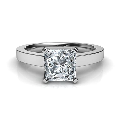 novo princess cut solitaire engagement ring