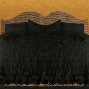 Black Ruffle Duvet Black Royal Bedding Water Ruffle From Lavishmart On Etsy