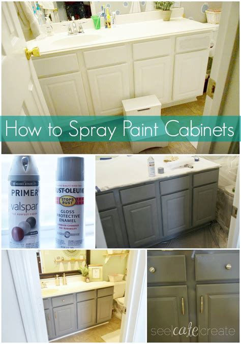 how to spray paint cabinets bathroom makeover you can