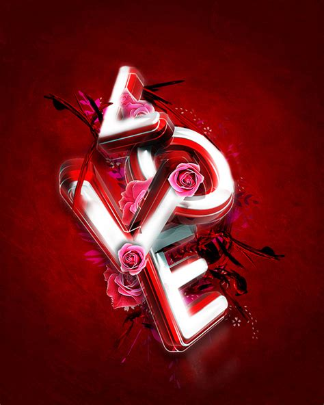 Tutorial Typography Wajah Photoshop Cs3 | 3d valentine s day typography exclusive tutorial 3d