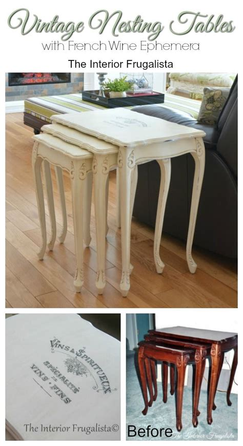 provincial nesting tables 25 best ideas about nesting tables on painted