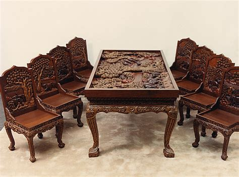 Carved Dining Table And Chairs Drop Leaf Dining Table Home Pictures