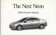 auto repair manual online 2000 dodge neon instrument cluster 2000 dodge neon owner s manual