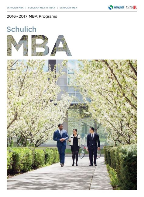 Schulich Mba At A Glance by Schulich Mba Viewbook 2016 By Schulich School Of Business