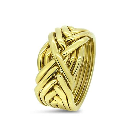 mens gold 8t m puzzle rings creations