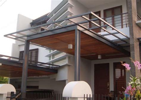 desain canopy teras rumah modern minimalis homes pinterest canopies  modern
