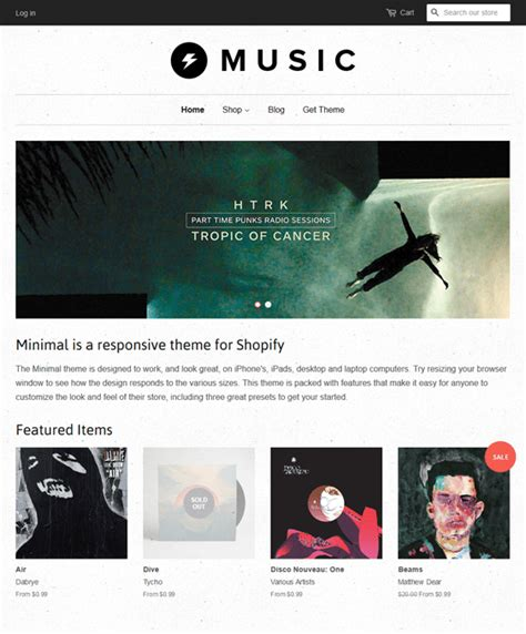 shopify themes music 7 of the best music shopify themes down