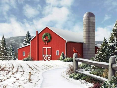 Calendar 63 Cook County Snowy Barn Desktop Wallpaper Wallpapersafari