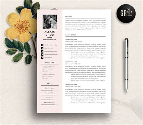 Resume Cv Template By Gresume Torrent 17 Best Images About Design Creative Resume Cv