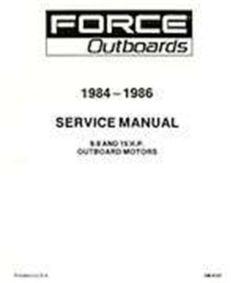 1984 1986 Mercury Force 9 9 And 15hp Outboards Service