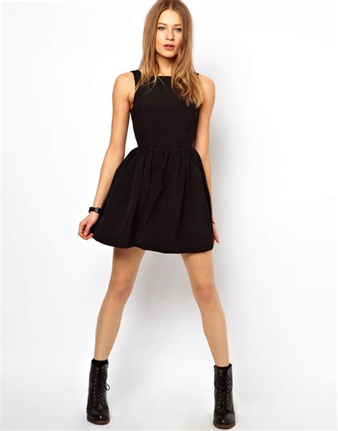 Dress For Withamerican Apparel by Lyst American Apparel Button Back Swing Dress In Black