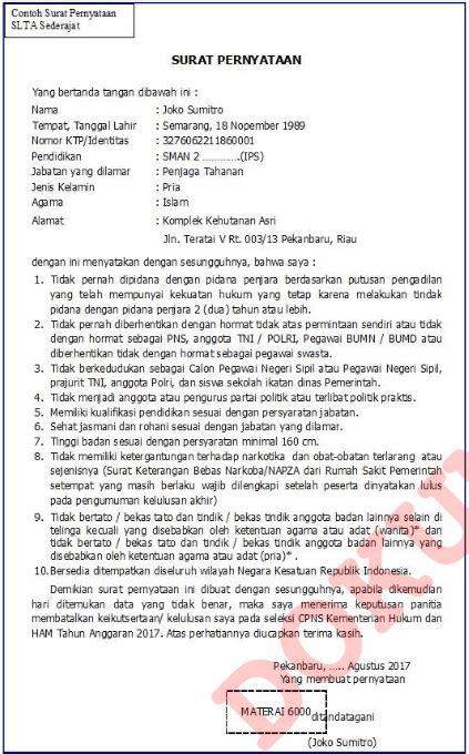 format surat lamaran cpns 2017 kemenkumham pendaftaran cpns kemenkumham go id 2018 2019 pendaftaran