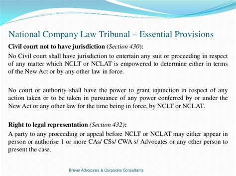 section 430 criminal code nclt brevet advocates corporate consultants