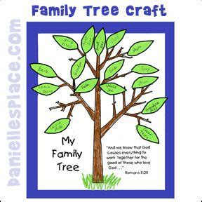 How To Make A Family Tree On Paper For - family trees sunday school and paper crafts on